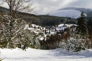 O běžkařské tratě ve Špindlerově Mlýně rozhodně není nouze